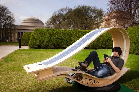 Solar Recharger Rocking Chair – SoftRocker from MIT