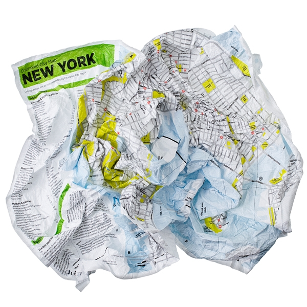 I hate folding maps – love Crumpled City Maps