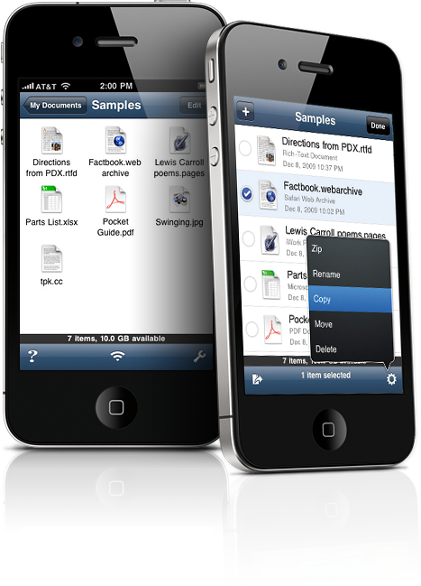 Use iPhone as Hard Drive, Put Docs in The Cloud – Avalon Air Sharing App
