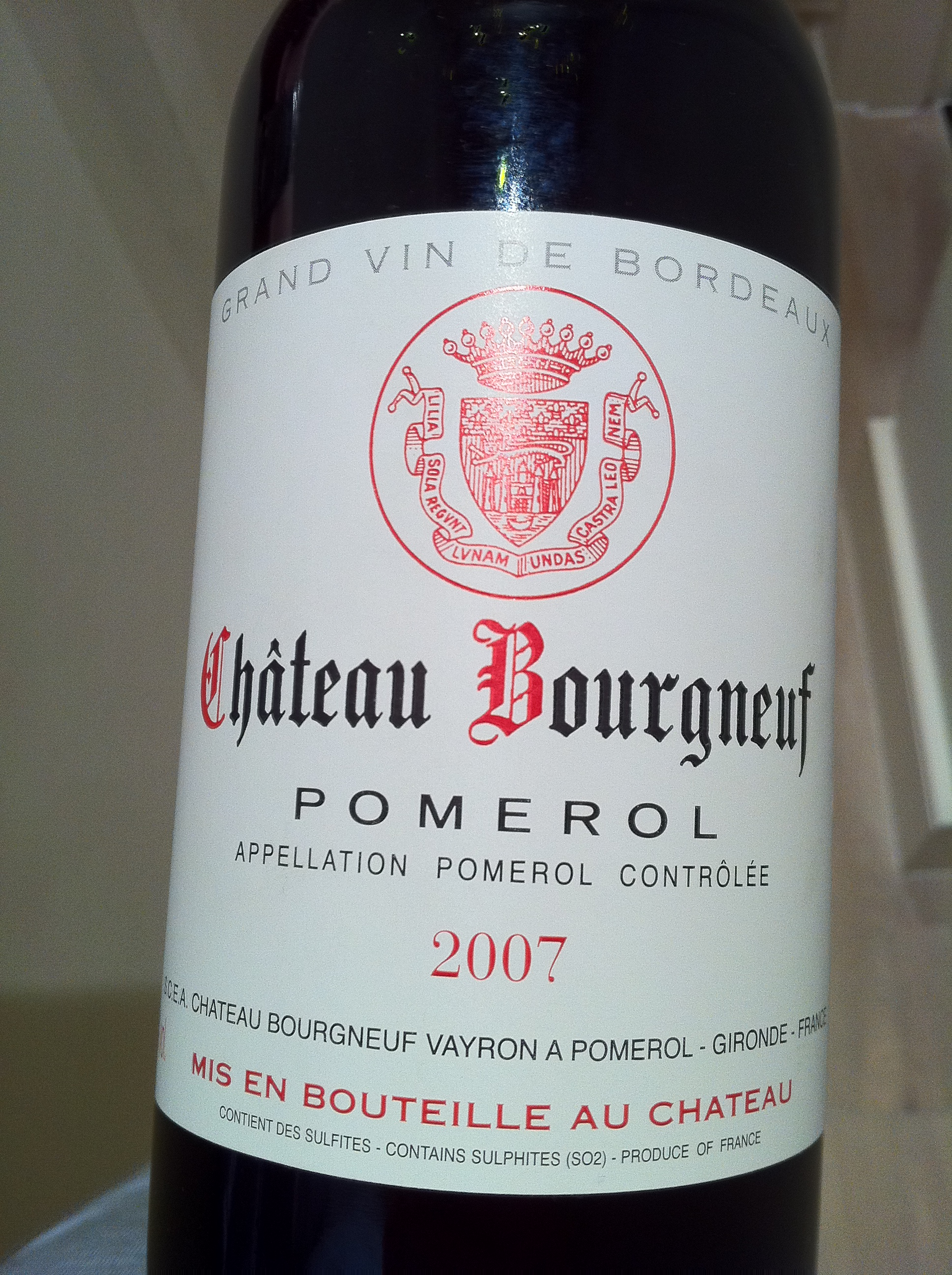 Chateau Bourgneuf – Great Pomerol for under £25