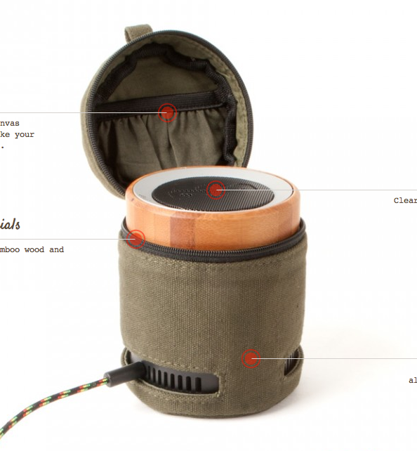Portable Speaker in a Bag