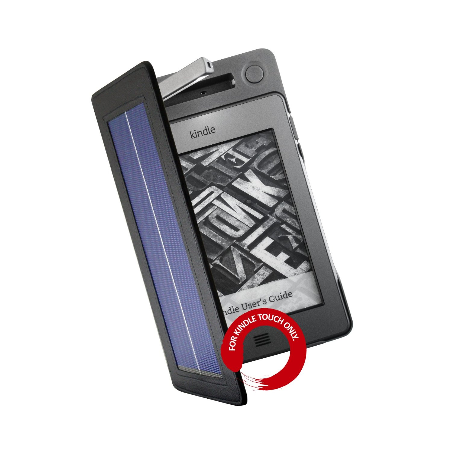 Solar Cover for Kindle Touch + LED Light
