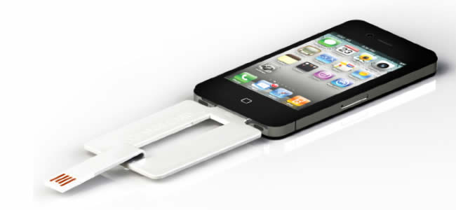 Credit Card USB Cable for iPhone and Micro USB