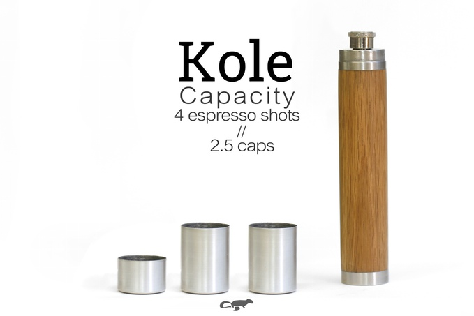 UltraPortable Kole Thermos Flask – 4 shots of Espresso or Whiskey a Go Go